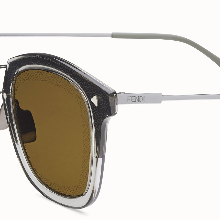 FENDI FF - Dark grey ruthenium sunglasses - view 3 detail