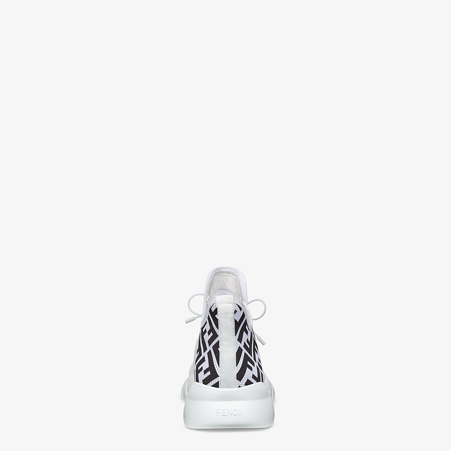 FENDI SNEAKERS - White tech mesh high-tops - view 3 detail