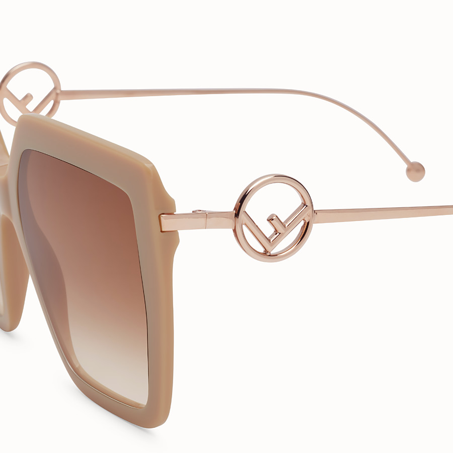 FENDI F IS FENDI - Beige acetate and metal sunglasses - view 3 detail
