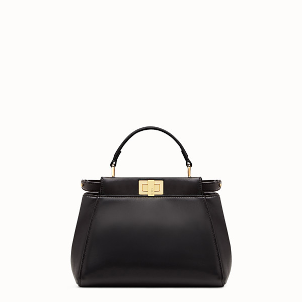 FENDI PEEKABOO ICONIC MINI - Borsa in nappa nera - vista 1 thumbnail piccola