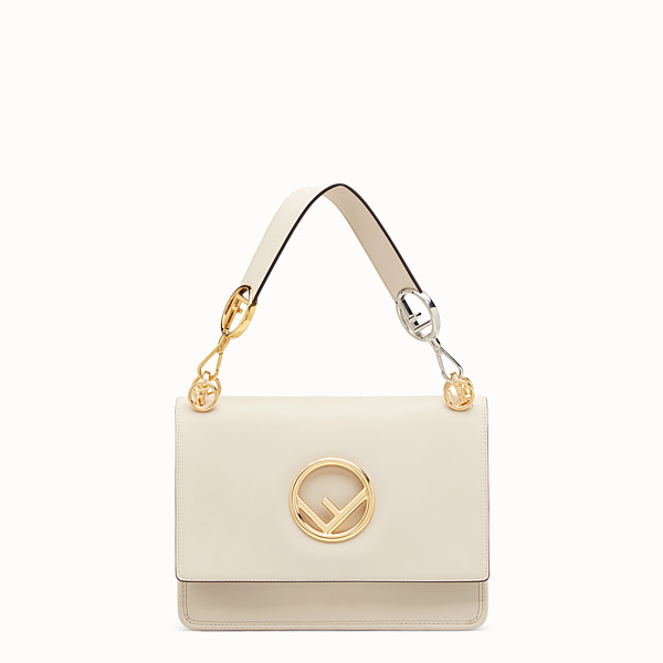 FENDI KAN I LOGO - White leather bag - view 1 small thumbnail
