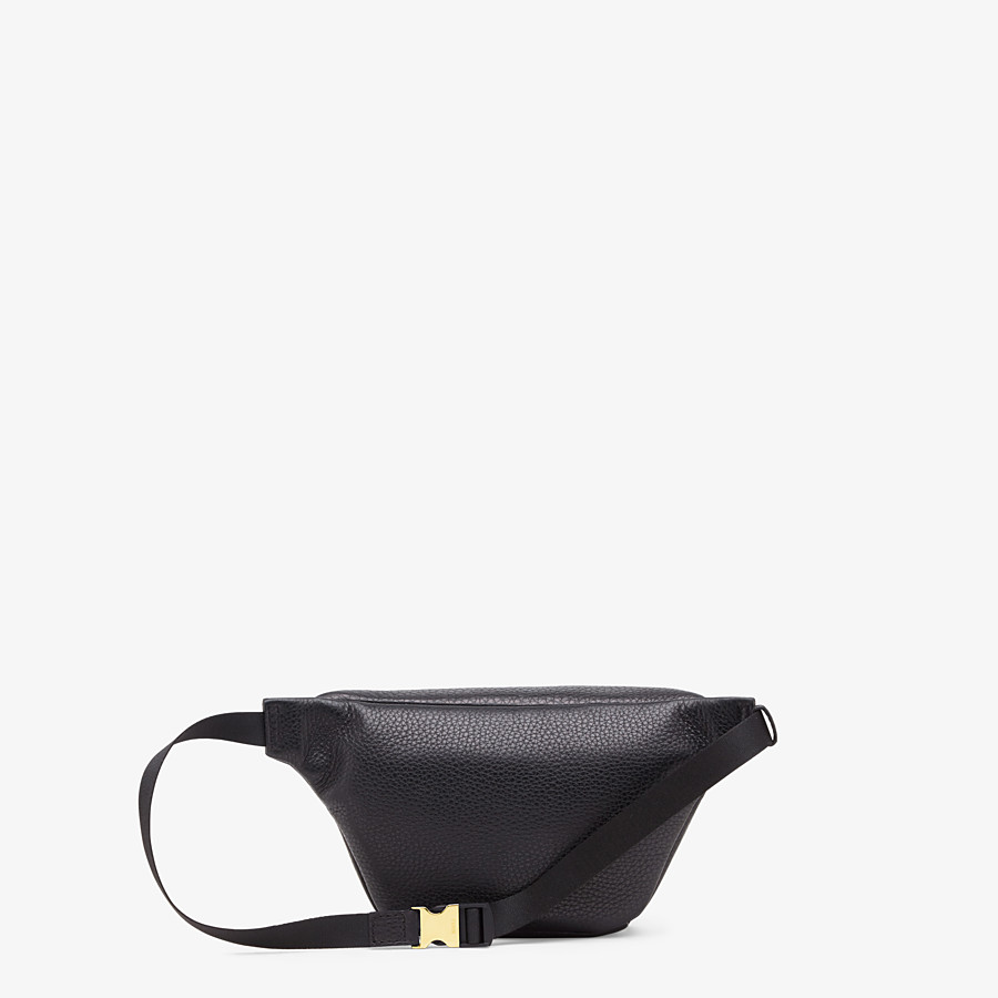 FENDI BELT BAG - Black Romano leather belt bag - view 3 detail