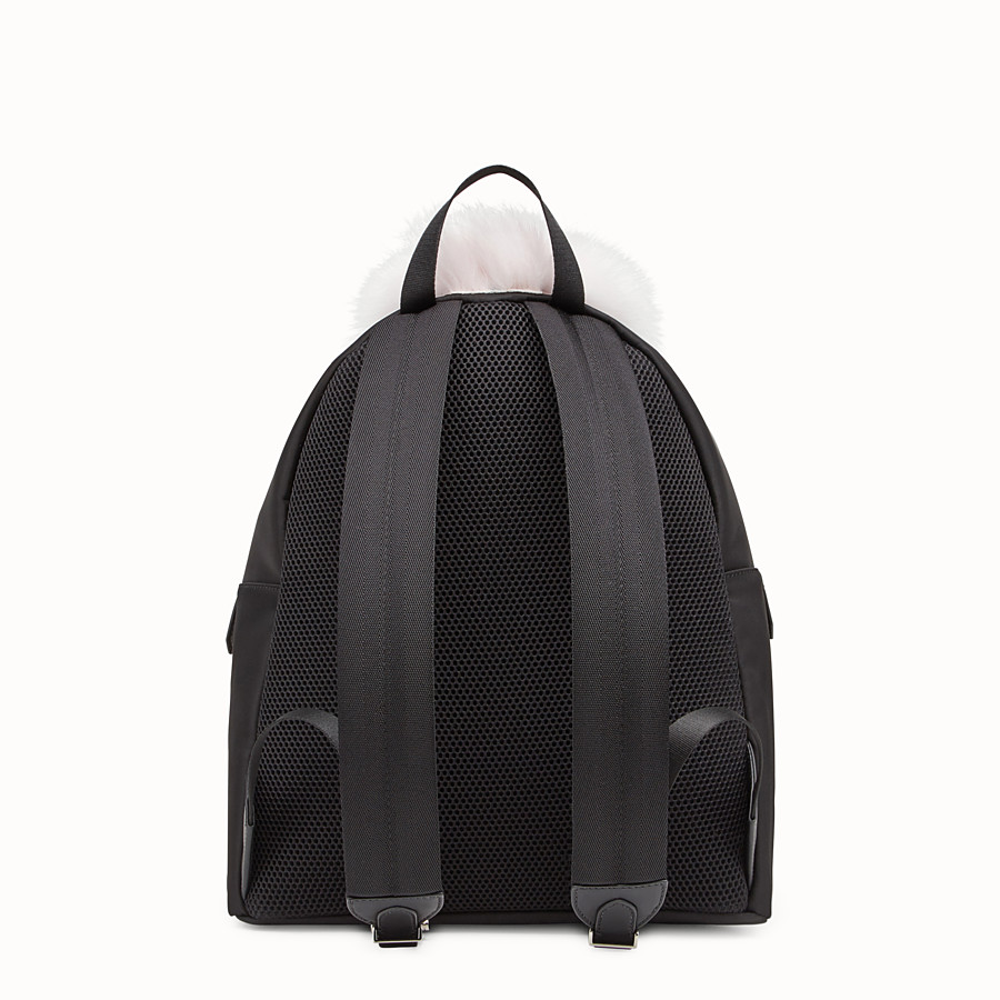 FENDI BACKPACK - Black fabric backpack - view 3 detail