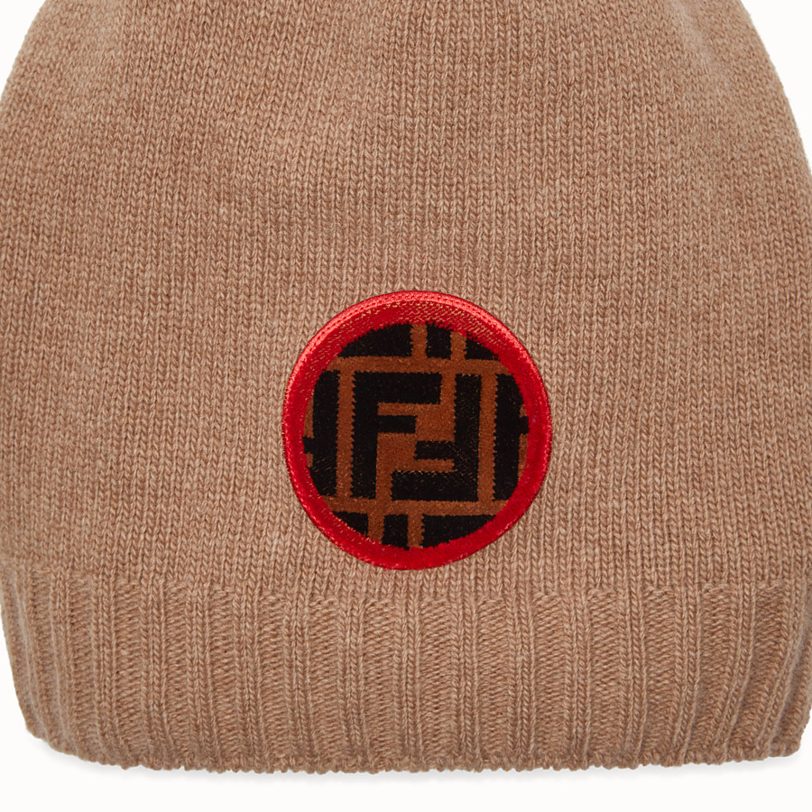 FENDI HAT - Beige wool and cashmere hat - view 2 detail