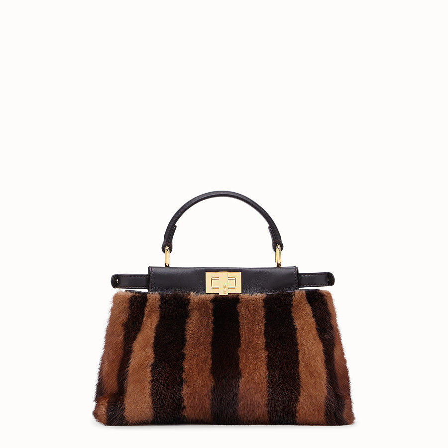 FENDI PEEKABOO ICONIC MINI - Black mink bag - view 3 detail