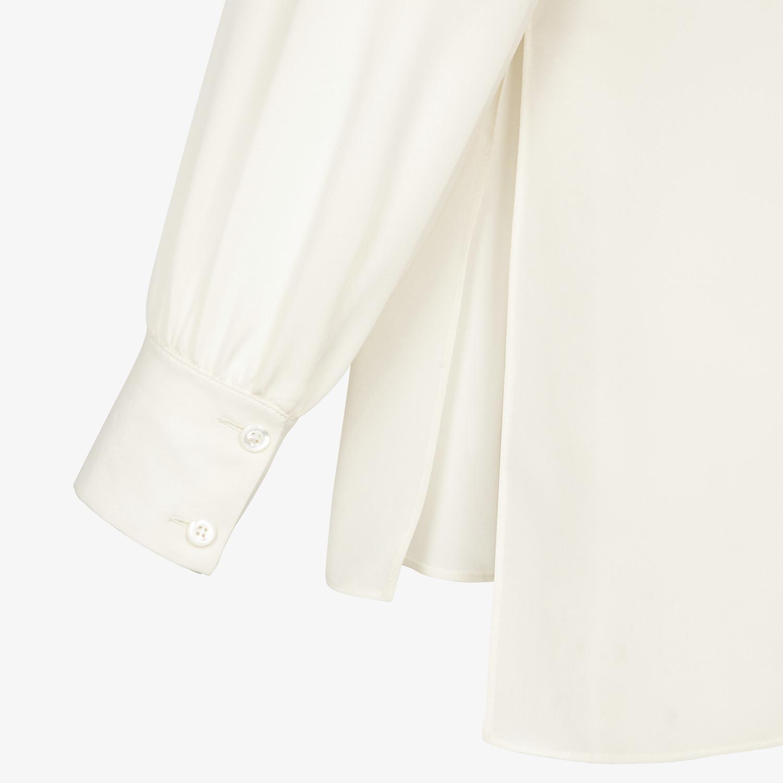 FENDI SHIRT - White crêpe de chine blouse - view 3 detail
