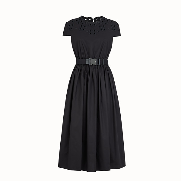 FENDI DRESS - Black taffeta dress - view 1 small thumbnail