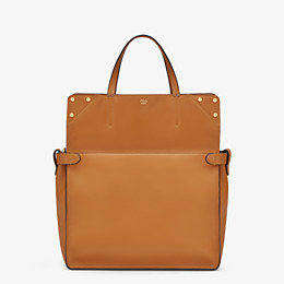 FENDI FENDI FLIP LARGE - Brown leather and suede bag - view 3 thumbnail