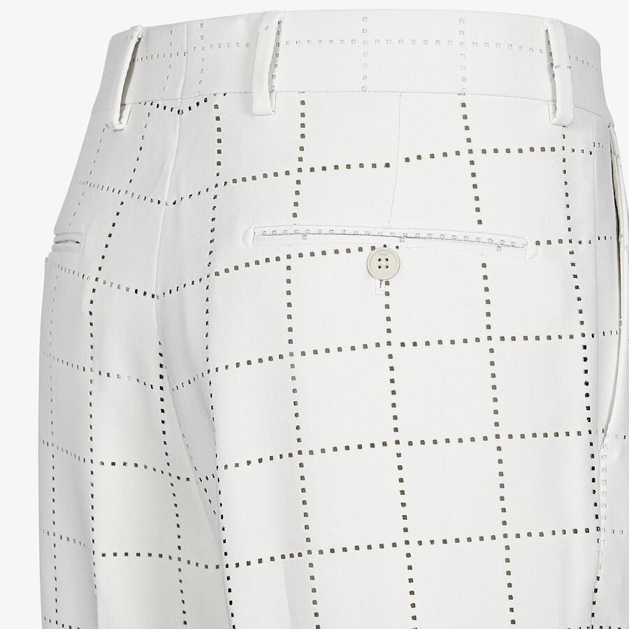 FENDI BERMUDAS - White wool pants - view 3 detail