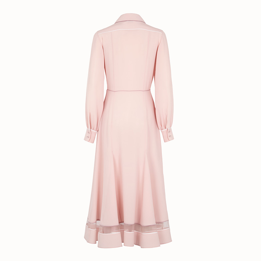 FENDI DRESS - Pink silk dress - view 2 detail