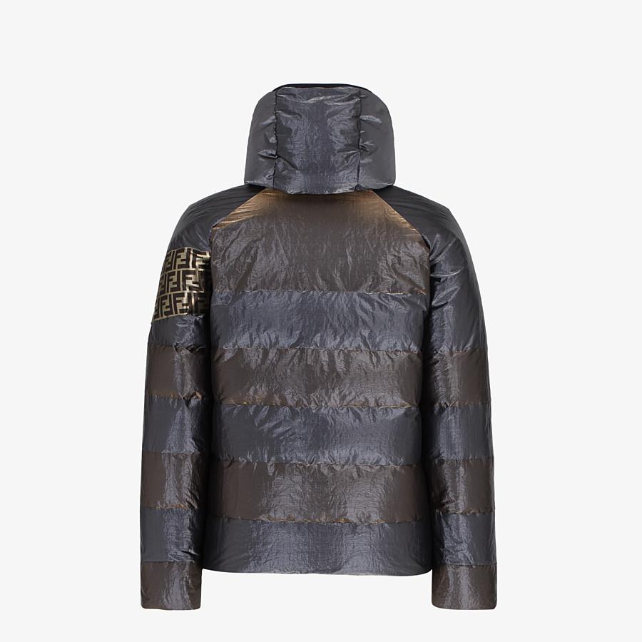 FENDI DOWN JACKET - Metallic tech fabric padded jacket - view 2 detail