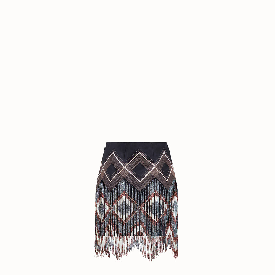 FENDI SKIRT - Multicolour satin mini skirt - view 2 detail