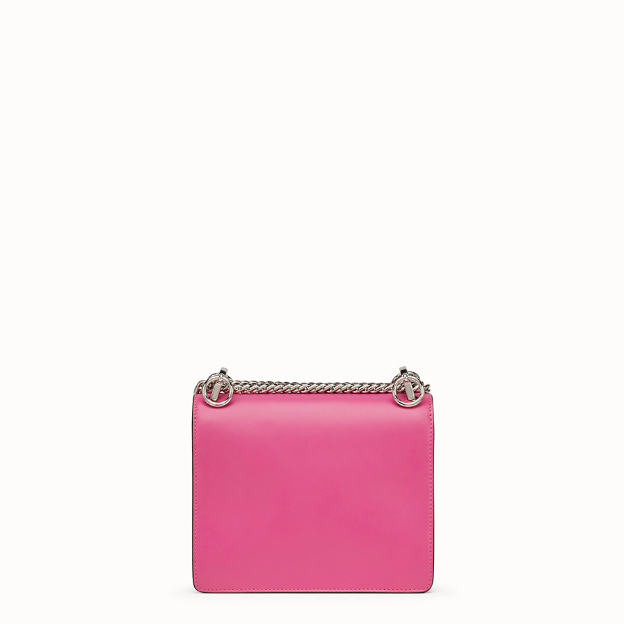 FENDI KAN I SMALL - Fuchsia leather mini-bag - view 3 detail