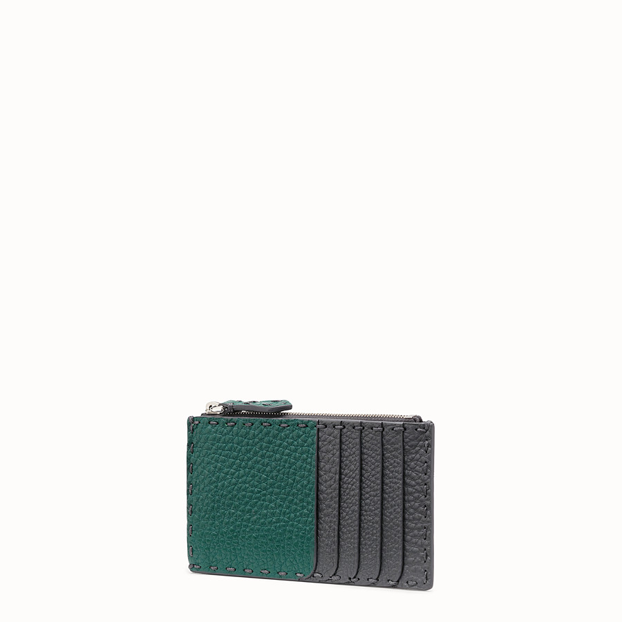 FENDI CARD HOLDER - Multicolour leather coin purse - view 2 detail