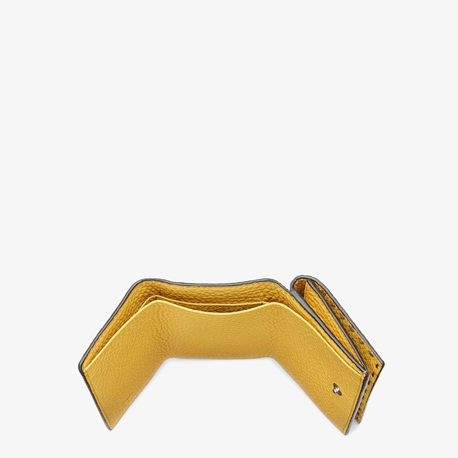 FENDI WALLET - Green leather tri-fold wallet - view 4 detail