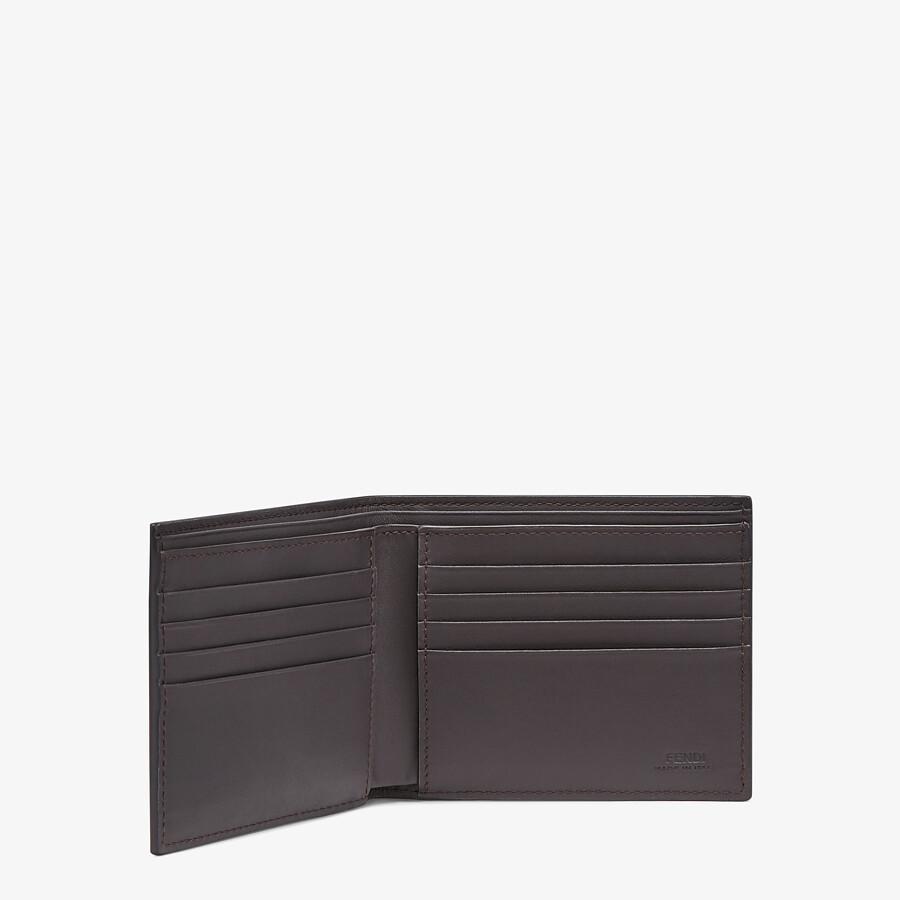 FENDI 皮夾 - 棕色布料雙折皮夾 - view 3 detail