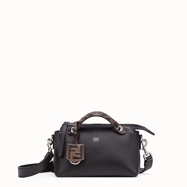 FENDI BY THE WAY MINI - Small black leather Boston bag - view 1 small thumbnail