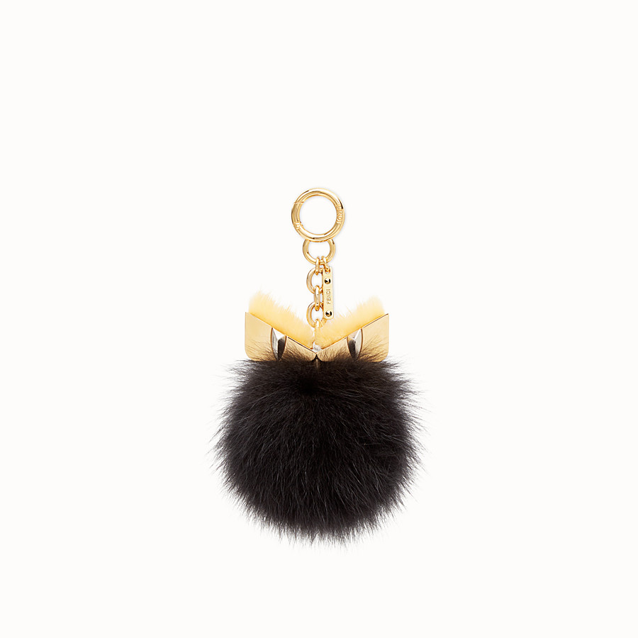 FENDI BAG BUGS CHARM - Black fur charm - view 1 detail
