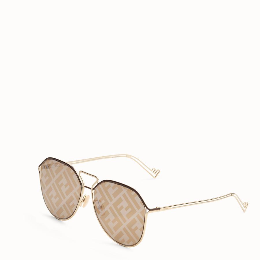 FENDI FENDI GRID - Brown and gold sunglasses - view 2 detail