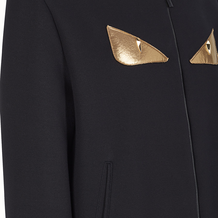 FENDI BLOUSON JACKET - Black neoprene jacket - view 3 detail