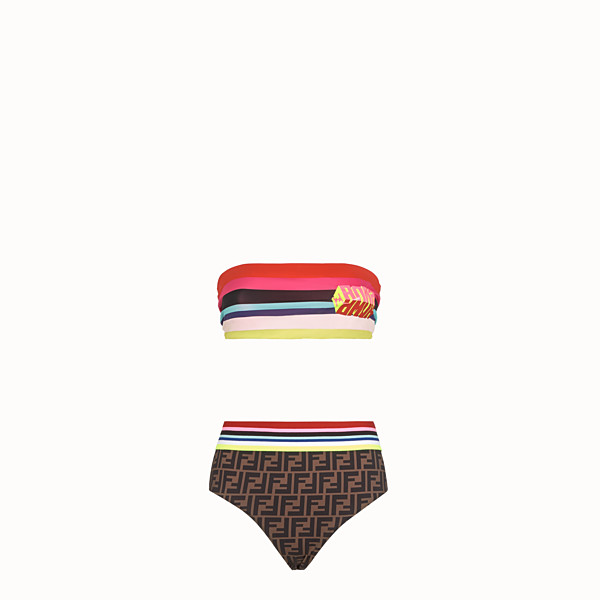 FENDI SWIMSUIT - Fendi Roma Amor Lycra® bikini - view 1 small thumbnail