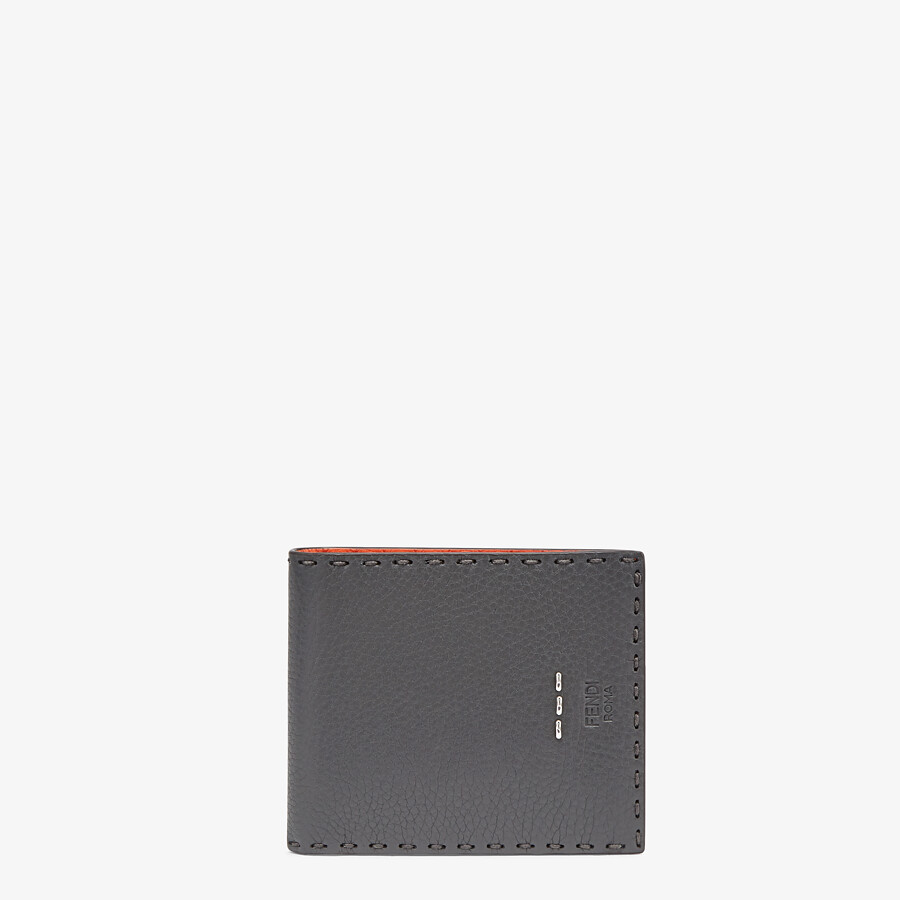 FENDI WALLET - Bi-fold wallet in gray leather - view 1 detail