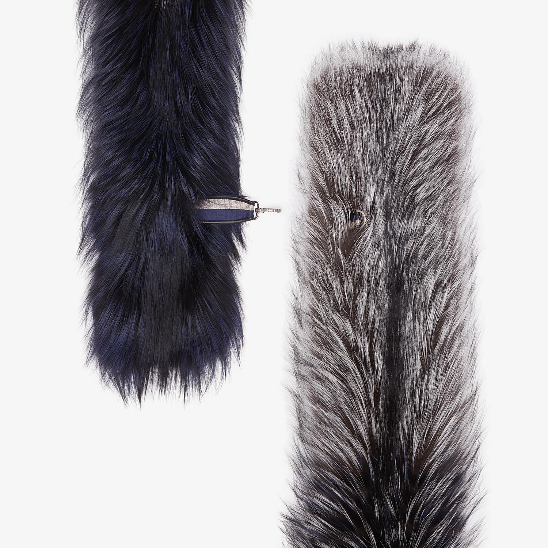FENDI COLLAR - Gray fox fur collar - view 2 detail