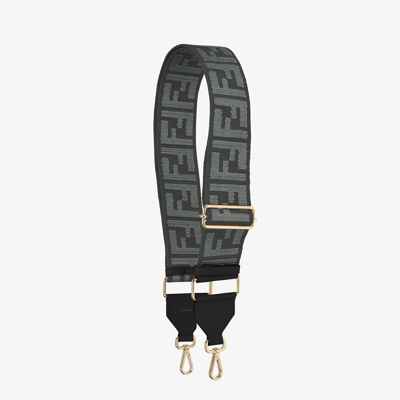 FENDI STRAP YOU - Gray ribbon shoulder strap - view 1 detail