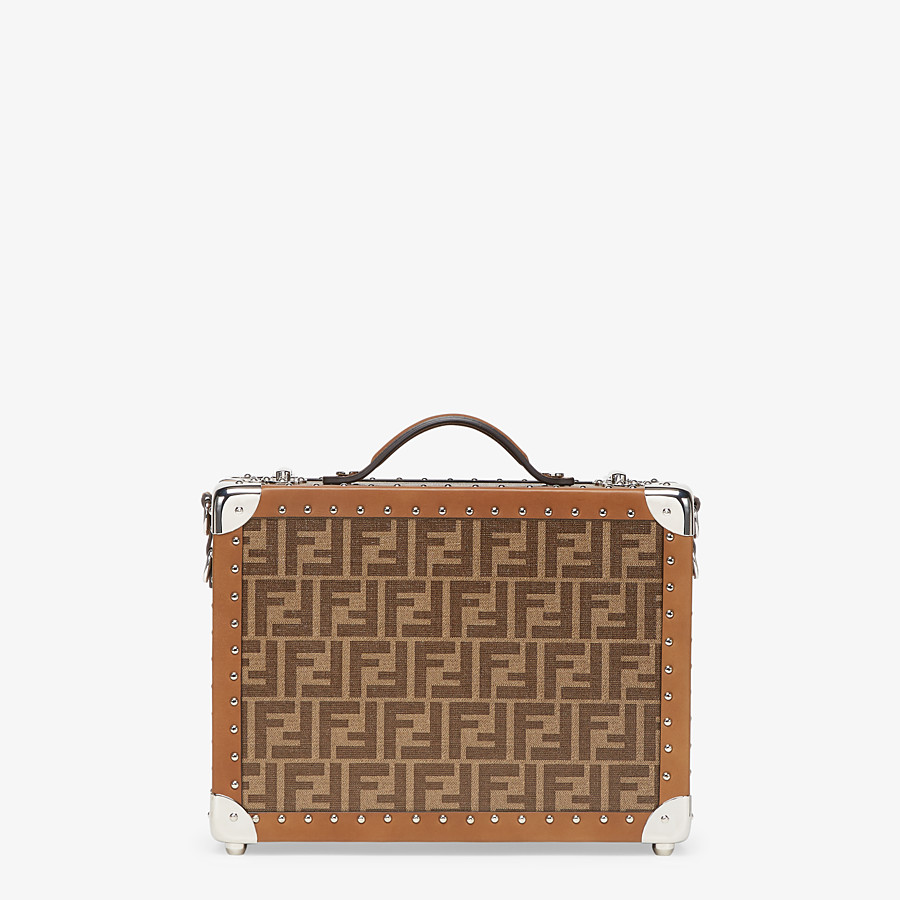 FENDI RIGID SUITCASE SMALL - Brown fabric suitcase - view 3 detail