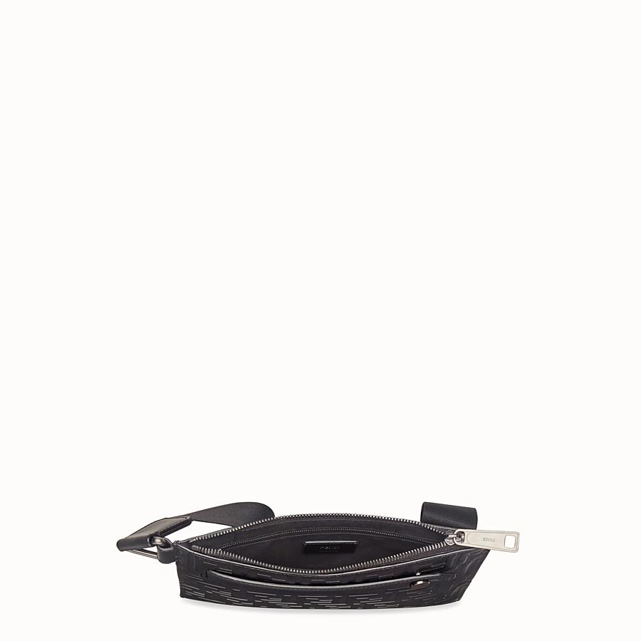 FENDI MESSENGER - Black leather bag - view 4 detail