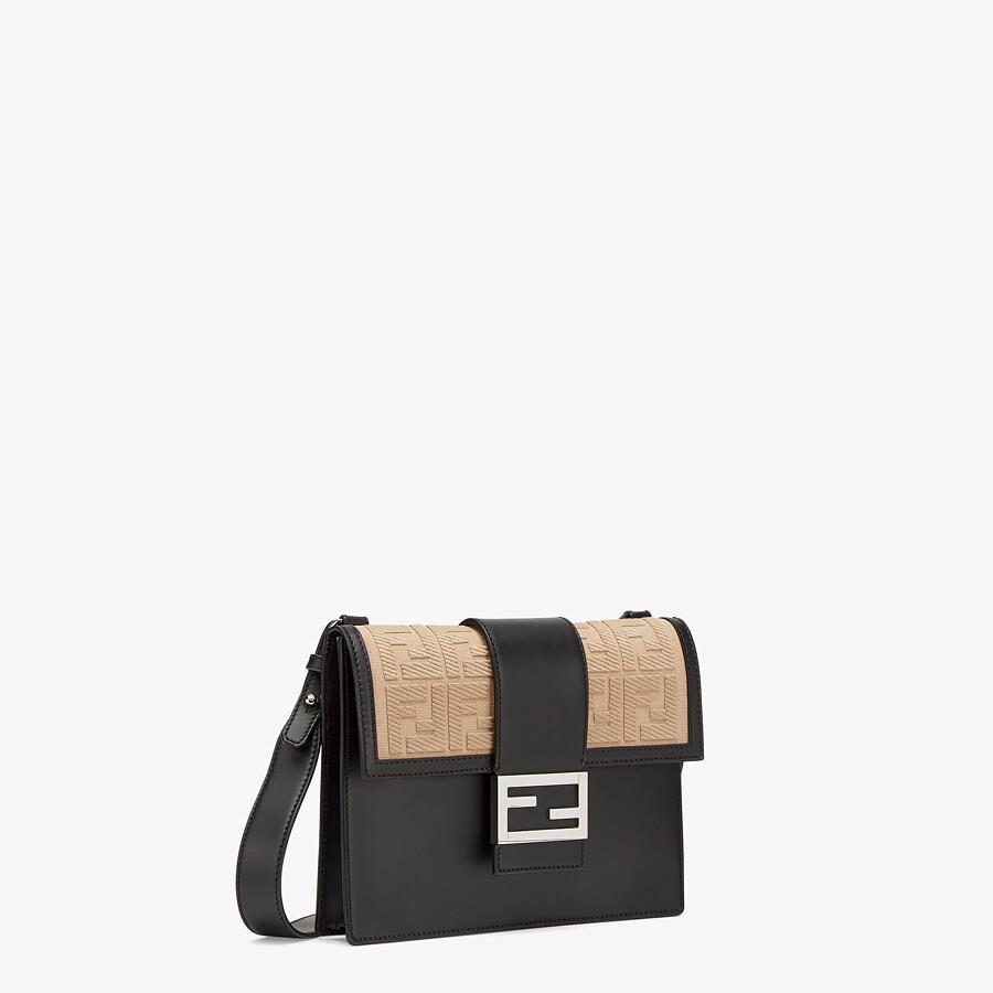 FENDI FLAT BAGUETTE - Black leather bag - view 2 detail