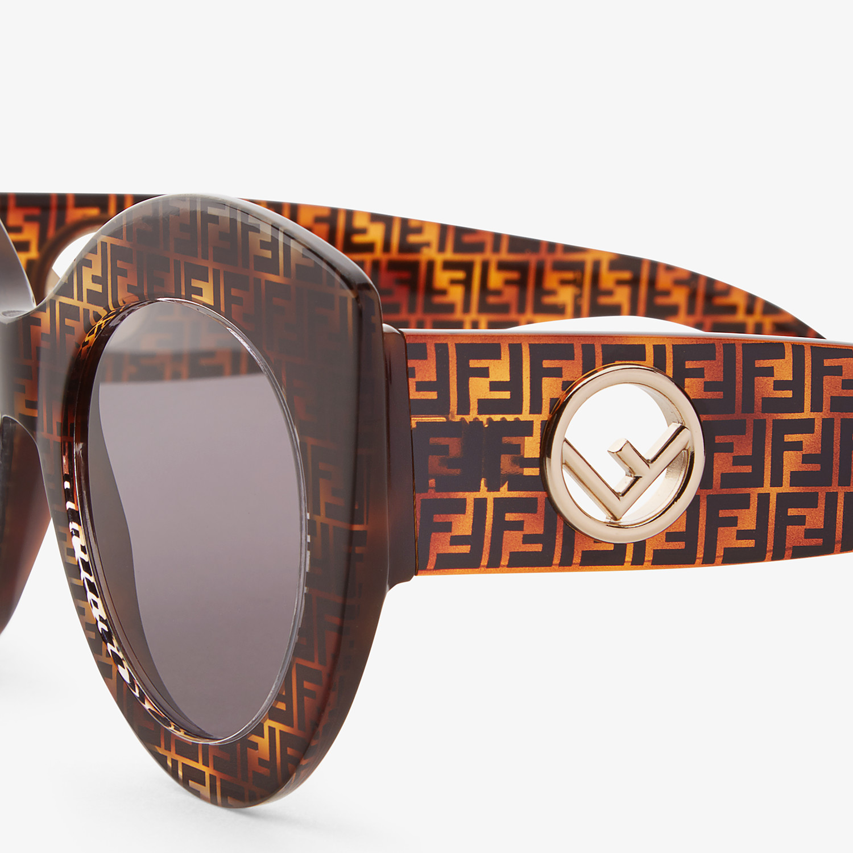 FENDI F IS FENDI - Havana FF sunglasses - view 3 detail