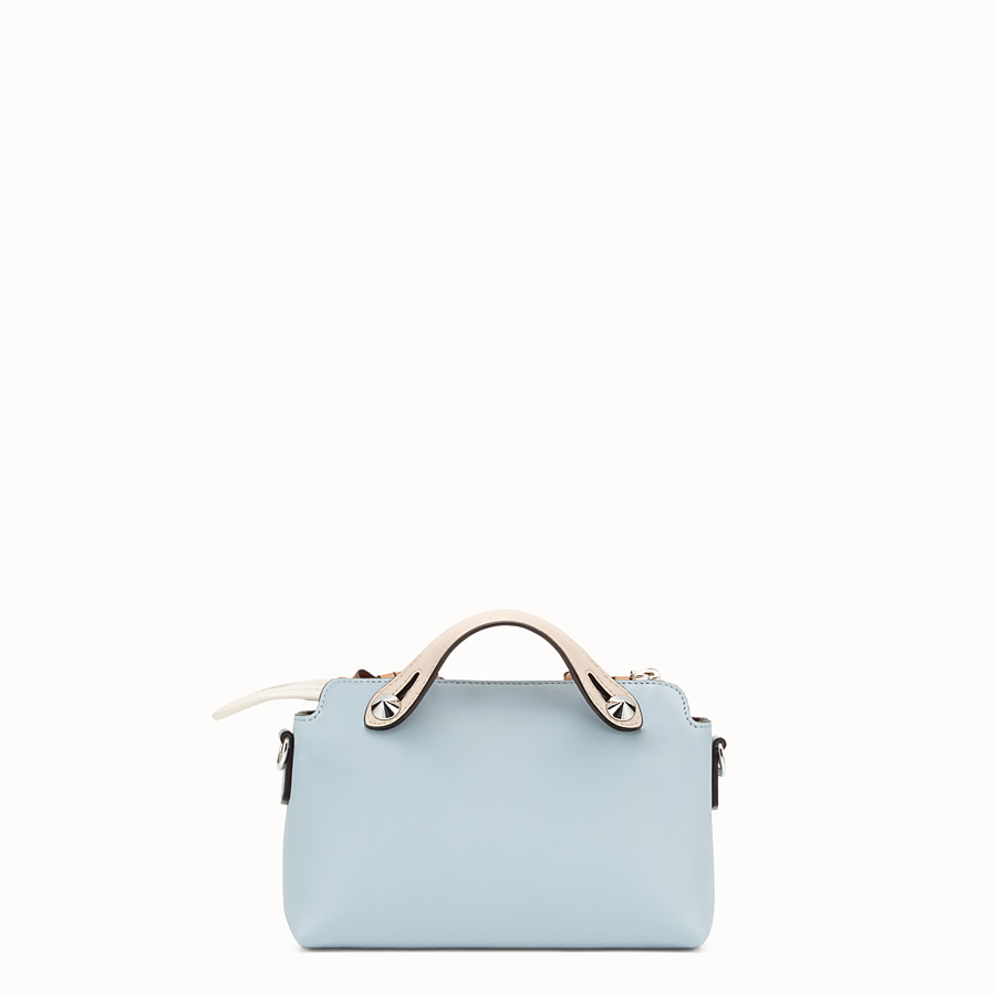 FENDI BY THE WAY MINI - 小型款淺藍色皮革波士頓手提包 - view 3 detail