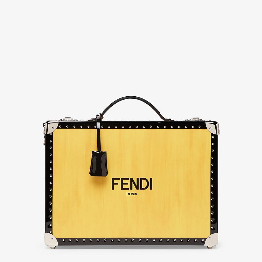 FENDI TRAVEL BAG - Yellow leather suitcase - view 1 detail