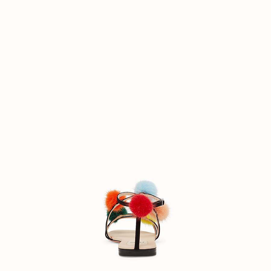 FENDI 涼鞋 - 黑色麂皮涼鞋 - view 3 detail