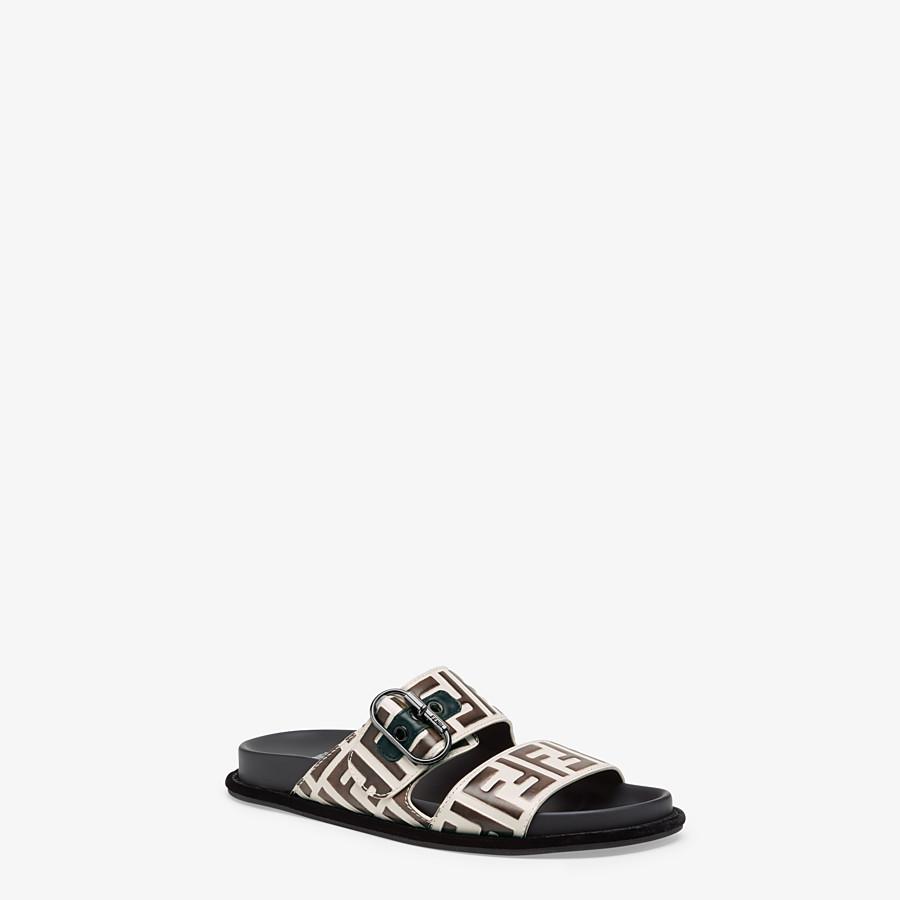 FENDI SANDALES - Sandales en cuir blanc - view 2 detail