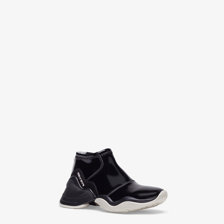 FENDI SNEAKERS - Sneakers in glossy black neoprene - view 2 detail