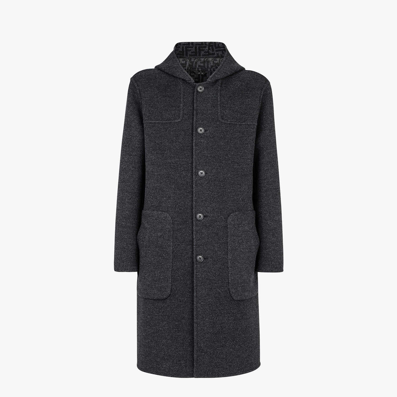 FENDI DUFFEL COAT - Gray wool coat - view 1 detail