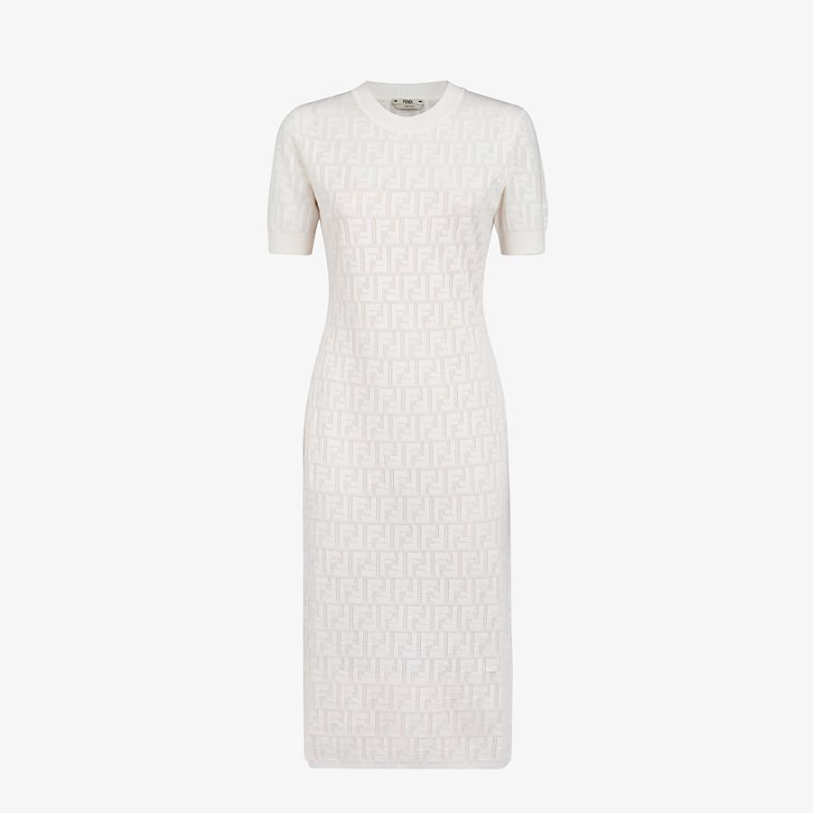 FENDI DRESS - White cotton dress - view 1 detail