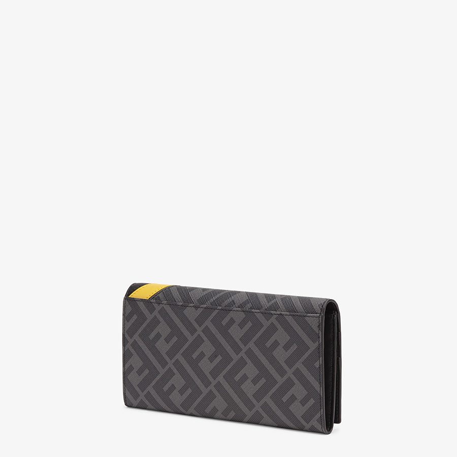 FENDI CONTINENTAL - Gray fabric wallet - view 2 detail