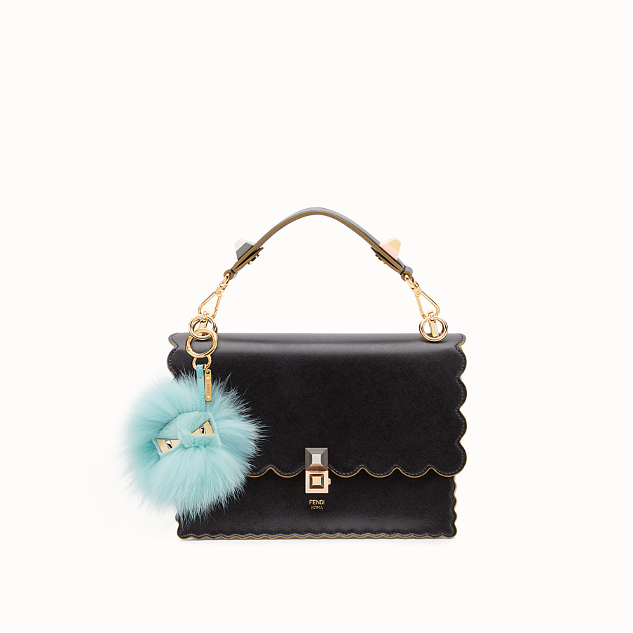 FENDI BAG BUGS CHARM - Pale blue fur charm - view 2 detail