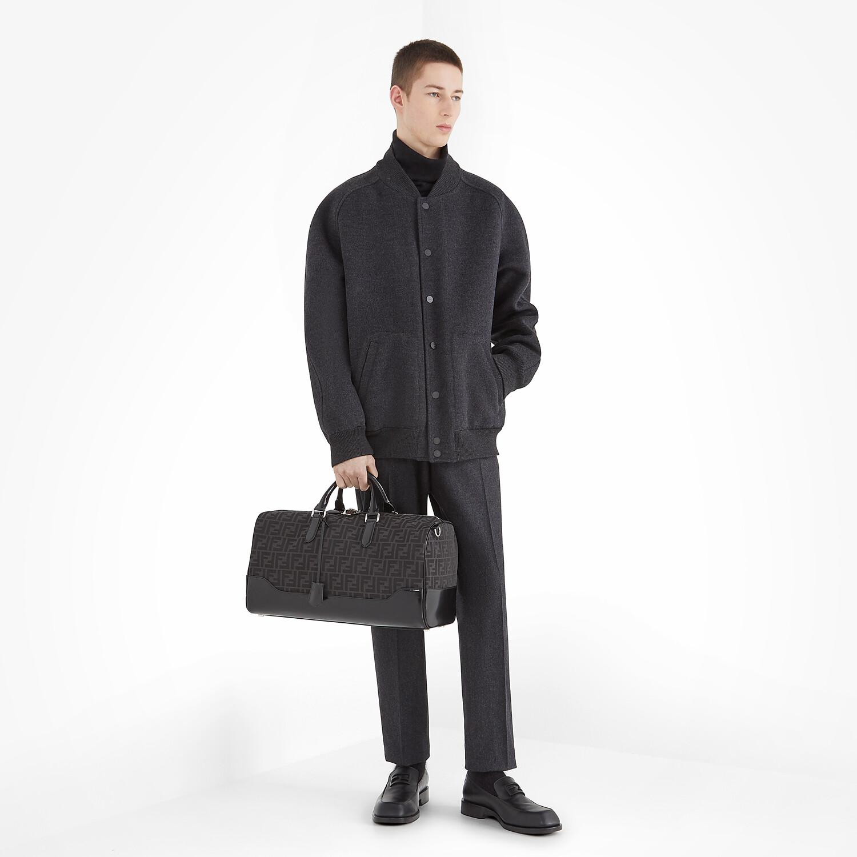FENDI BOMBER JACKET - Grey wool jacket - view 6 detail