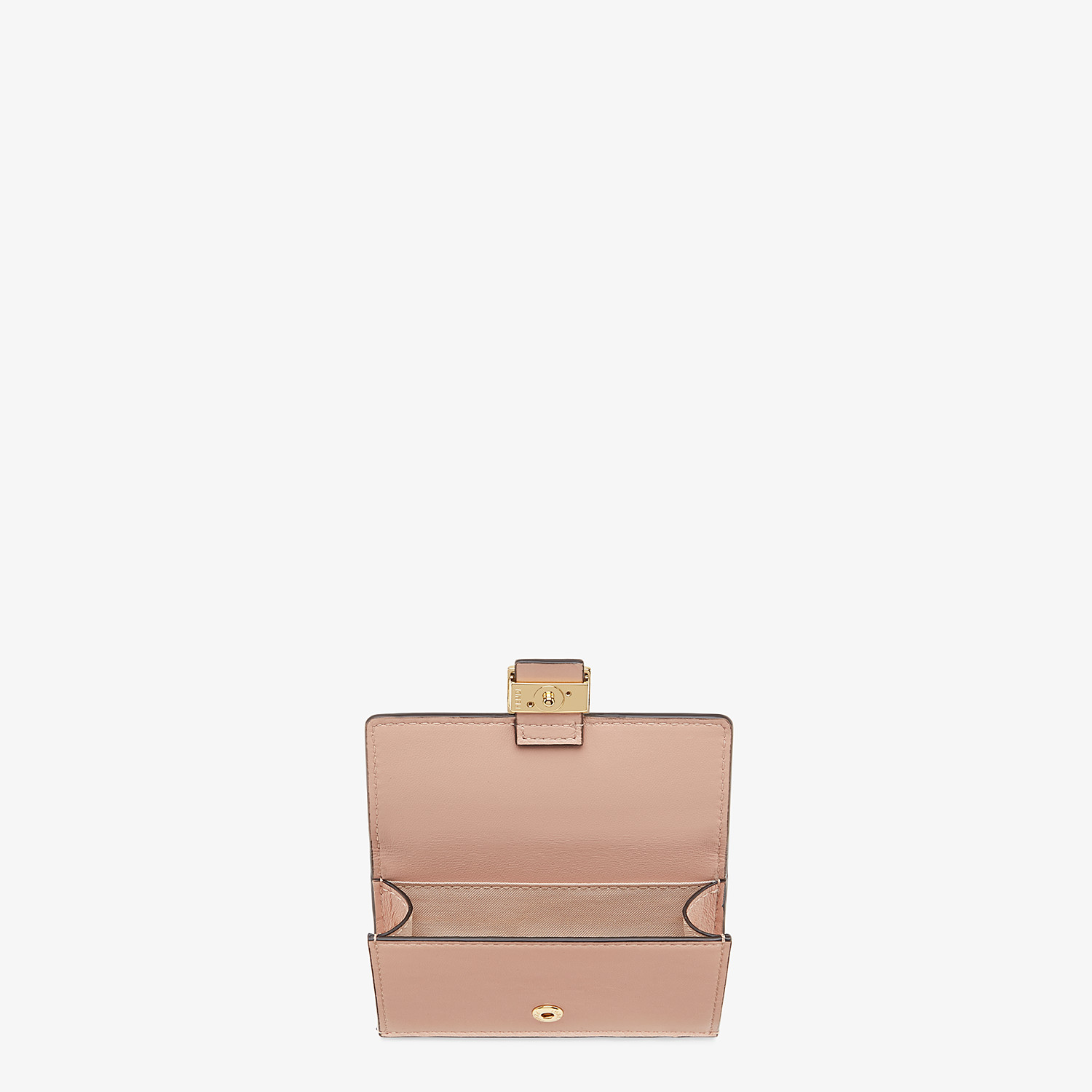 FENDI CARD HOLDER - Pink nappa leather card holder - view 3 detail