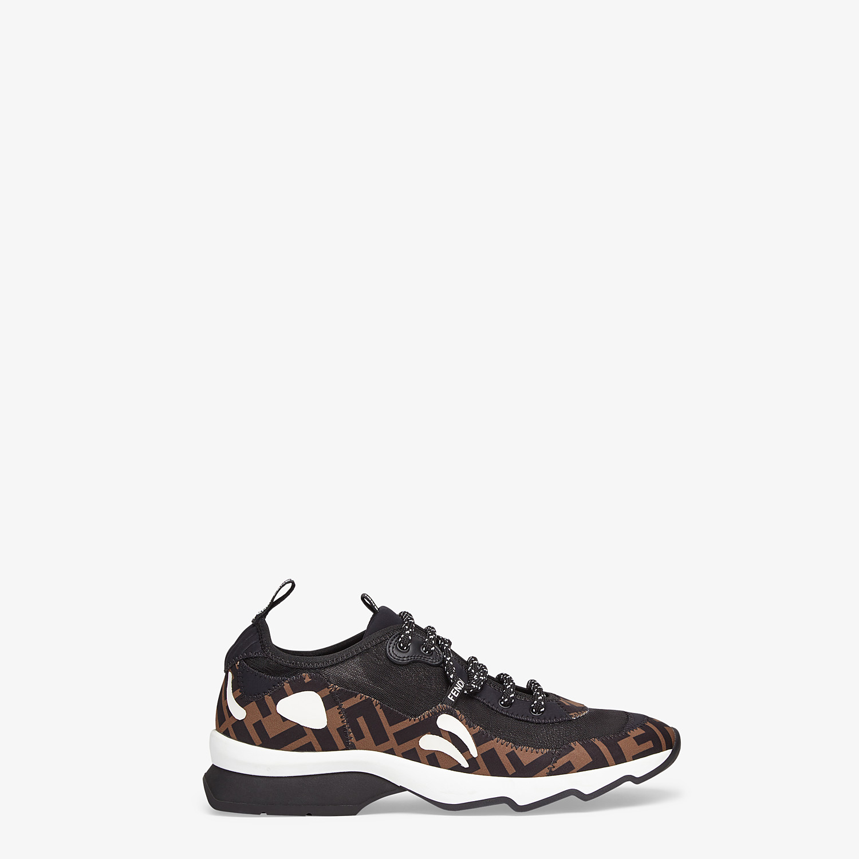 FENDI SNEAKERS - Brown technical mesh sneakers - view 1 detail