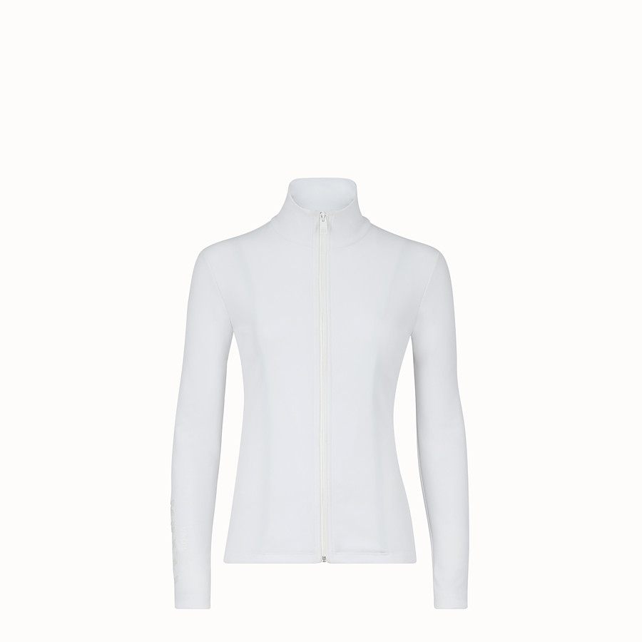 FENDI TECH FABRIC JUMPER - White tech fabric jumper - view 1 detail