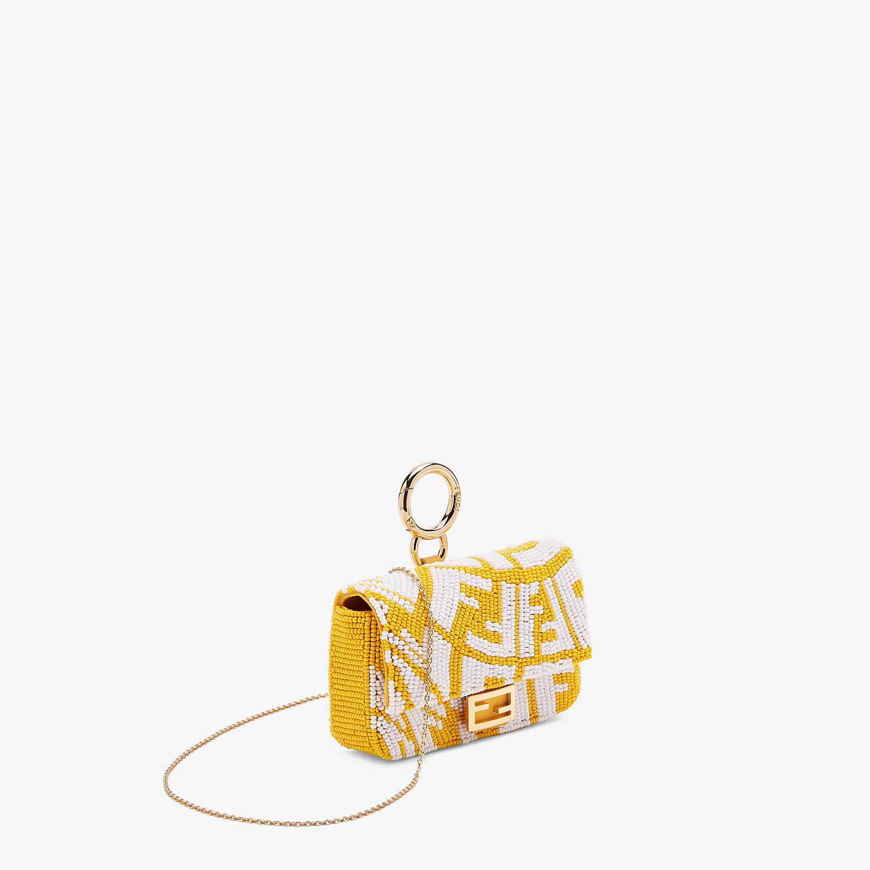 FENDI NANO BAGUETTE CHARM - Charm with yellow beads - view 2 detail