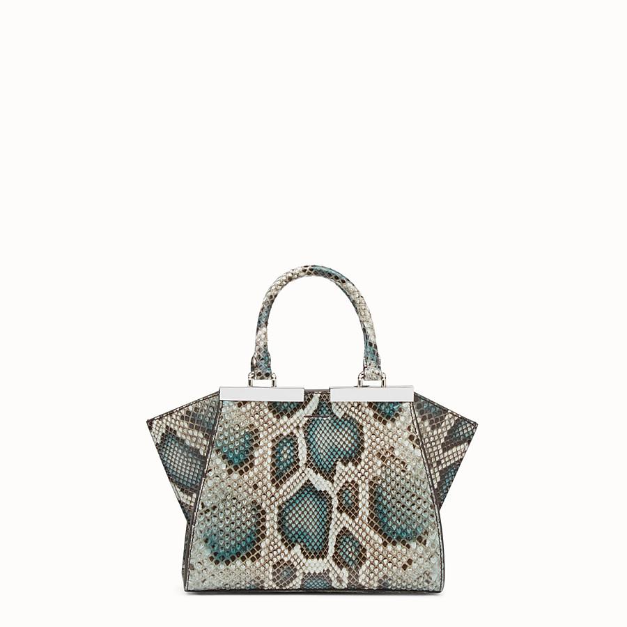 FENDI MINI 3JOURS - Python handbag in shades of green - view 3 detail