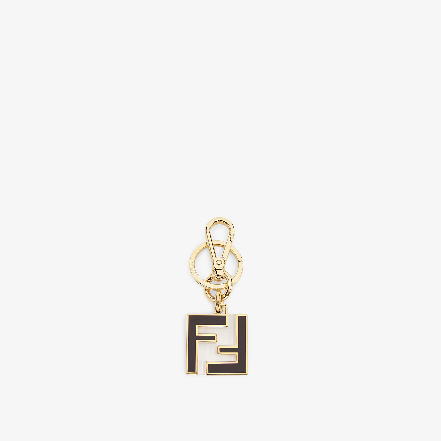 FENDI KEY RING - Black metal and plexiglass key ring - view 1 detail
