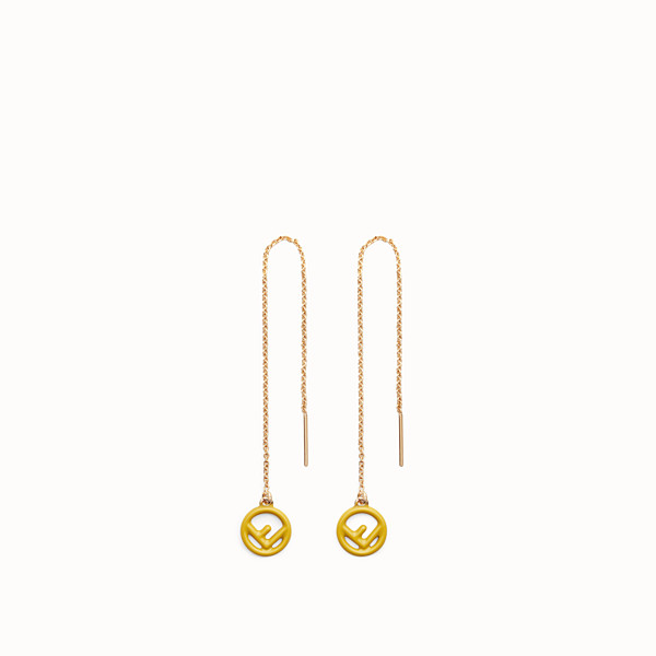FENDI F IS FENDI EARRINGS - Gold and yellow coloured earrings - view 1 small thumbnail