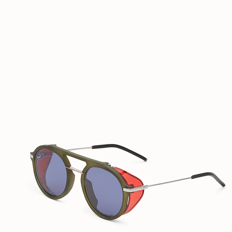 FENDI FENDI FANTASTIC - Green AW 17/18 Runway sunglasses - view 2 detail